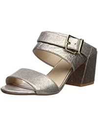 3453cd37e9a Kenneth Cole New York Women s Hannon 2 Way Adjustable Strap Heeled Sandal