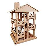 WEATLY Karton Katze Haus Scratcher Bett Höhle Nest Lounge Katze Kletterrahmen Cat Condos Cat Scratch Post (Color : Cat Villa)