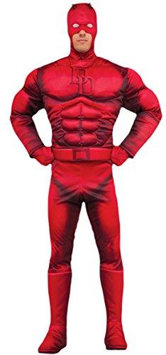 erdbeerloft - Herren Karneval Kostüm Anzug Daredevil , Rot, Größe (Schwarz Supergirl Stiefel Kostüm)