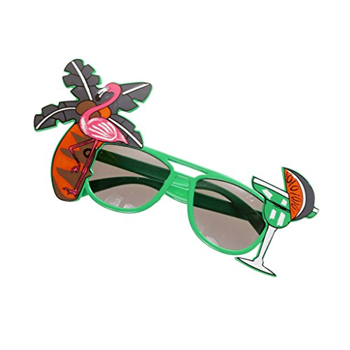 Flamingo Cocktail Hawaiische Sonnenbrille Fancy Dress Tropische Brille - - Cocktail Fancy Dress Kostüm