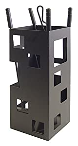 Imex El Zorro 10004 Square-Shaped Fireplace Set (50 x 20 x 20 cm) with Tools - Black