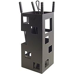 Imex El Zorro 10004 - Juego para chimenea, cuadrado (50 x 20 x 20 cm) útiles color negro