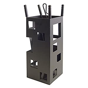 Imex El Zorro 10004 Juego para chimenea, cuadrado (50 x 20 x 20 cm) útiles color negro