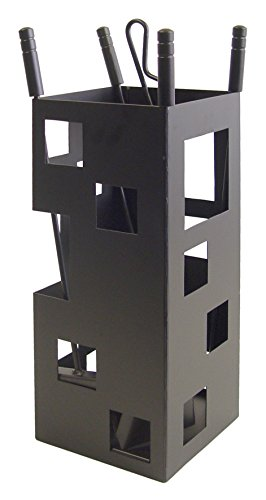 Imex El Zorro 10004 Kamin-Zubehörset, quadratisches Design, 50 x 20 x 20 cm, Schwarz