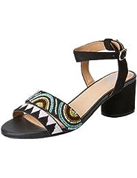 44131, Zapatos de Tacón con Punta Abierta para Mujer, Blanco (White), 40 EU Gioseppo
