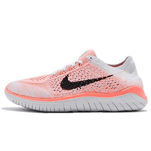 Nike Damen Laufschuh Free Run Flyknit 2018, Grau (Crimson Pulse/Black-800), 42 EU