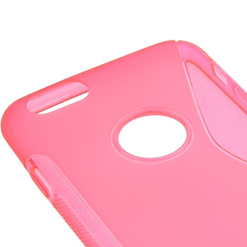 Wkae Case Cover S-Linie Anti-Rutsch-bereifte TPU Schutzhülle für das iPhone 6 Plus &6S plus ( Color : White ) Magenta