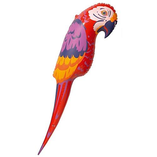 Aufblasbarer Papagei Piraten Vogel Piratenparty Deko Ara Freibeuter Seeräuber Pirat Dekoration Beach Sommerparty Partydeko Sommer Party Strandparty Hawaii Tier Mottoparty Accessoire Karneval Kostüm Zubehör Aufblasbare (Vogel Piraten Kostüm)