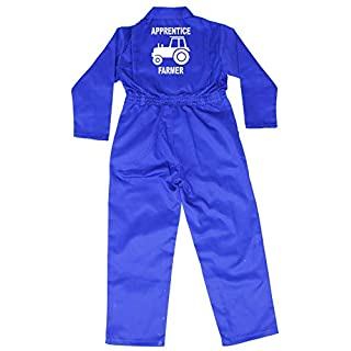 Acce Products Apprentice Farmer Baby, Childrens, Kids, Coverall, Boilersuit, Overall - Size - 22-2-3 Years - Royal Blue