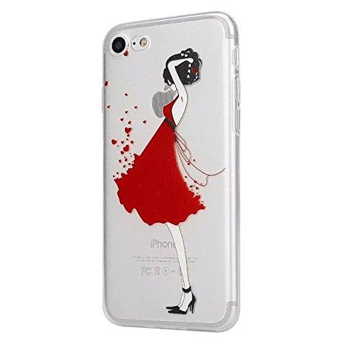 Etsue Coque Housse pour [iPhone 6/6S] Case ,Joli Imprimé Peint énergie Papillon Motif Design Anti-Scratch Protector Coque de Téléphone pour iPhone 6/6S Transparente Ultra Mince Supérieur Semi Transpar élégant Fille