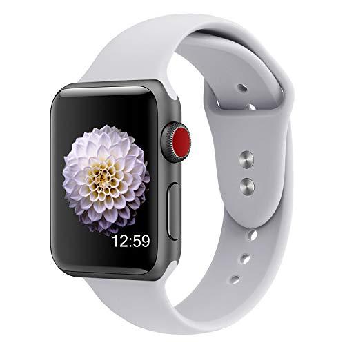 Preisvergleich Produktbild YOUKESI für Apple Watch Armband 38mm 40mm,  Soft Silikon Sport Ersatz Uhrenarmbänder für iWatch Series 4 / 3 / 2 / 1, Nike+, Sport, Edition S / M