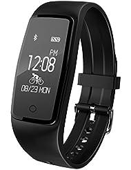 Willful SW327 Fitness Armband mit Pulsmesser - Wasserdichte Fitness Tracker Puls Armband Aktivitätstracker Schrittzähler Uhr mit Schlafmonitor Kalorienzähler Vibrationsalarm Anruf SMS Whatsapp Beachten mit iPhone Android Handy kompatibel