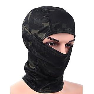 RUNACC Vollgesichtsmaske Unisex Winddichte Balaclava Warm Winter MaskeCS Kopftuch geeignet für Outdoor *Biwak*Skifahren*Radfahren* Klettern * Fahrrad*Wandern*Motorradfahren (Schwarz-B)