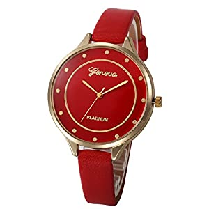 Chenang Damen Klassik Armbanduhr,flach Slim Uhr,Klein Damen-Uhren Retro Analog Quarz,Damen Analog Quarz Armbanduhr mit Elegant Ø38mm