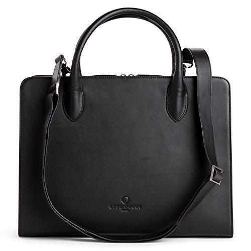 OFFERMANN Handtasche Ledertasche Workbag Shape 8 Liter Deep Black