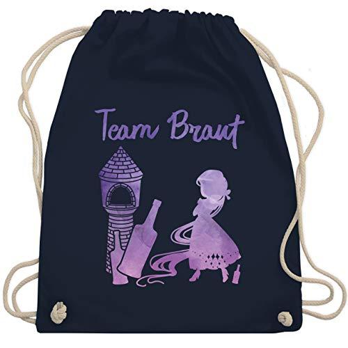 JGA Junggesellinnenabschied - JGA Team Braut Prinzessin - Unisize - Navy Blau - WM110 - Turnbeutel & Gym Bag