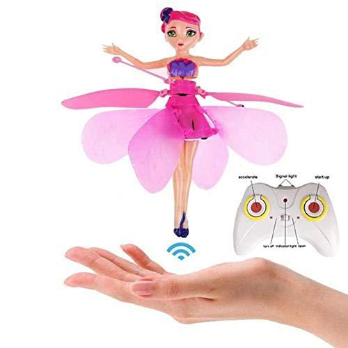 Heli Spielzeug Fee Puppe Outdoor Spielzeug Fliegende Fee Puppe Mit Infraroterkennung Schwimmendem Licht Ferngesteuertes Spielzeug Für Kinder Jugendliche Weihnachtsgeschenke