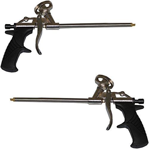 2x Schaumpistole Aluminium Schaum Pistole Bauschaumpistole Montagepistole Alu