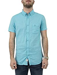 chemise manches courtes lee cooper 005377 darwin bleu