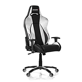 AKRacing Premium V2 – AK-7002-BS – Silla Gaming, Color Negro/Plata