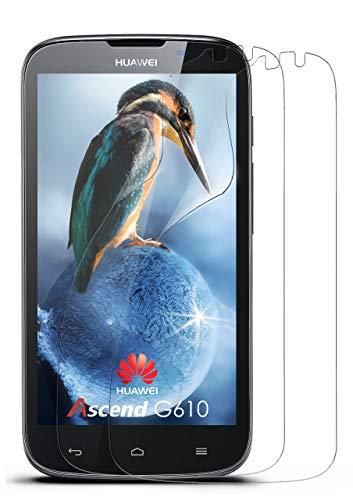 moex 2X Huawei G610   Schutzfolie Klar Bildschirm Schutz [Crystal-Clear] Screen Protector Display Handy-Folie Dünn Bildschirmschutz-Folie für Huawei Ascend G610 Bildschirmfolie