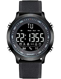 Wrath Smart Bluetooth Connected Black Strap Activewear Smart Watch (Pedometer, Call, Camera Operations, Calories & More -Andriod & iOS Apps Available)