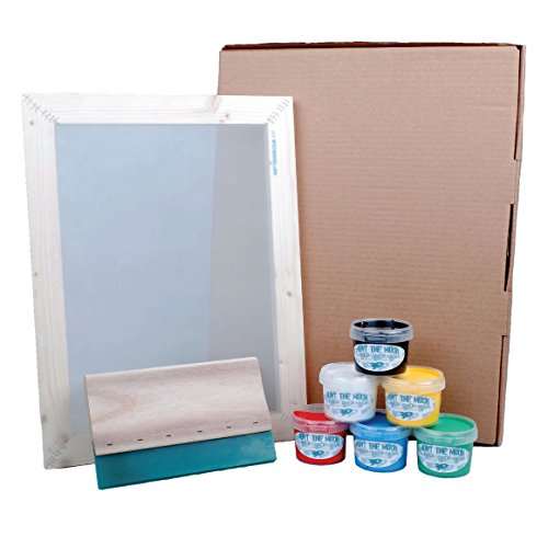 Deluxe Screen Printing Kit (Hunt The Moon Siebdruck-Set, Holz, groß, A3 Deluxe)