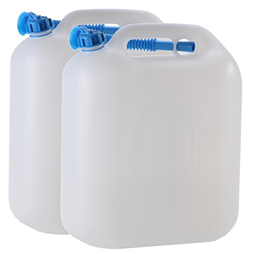 2x Wasserkanister ECO 20 Liter mit Rohr 2er Set Camping-Kanister Wassertank