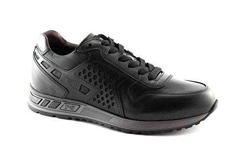 NERO GIARDINI 4350 nero ilcea scarpe uomo sneaker sportive lacci 40