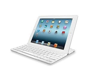 Logitech UltraThin Tastiera, Cover per iPad, Colore Bianco, Versione Italiana QWERTY
