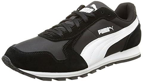 Puma ST Runner NL Unisex-Erwachsene Laufschuhe, Schwarz (Black/White), 44.5 EU