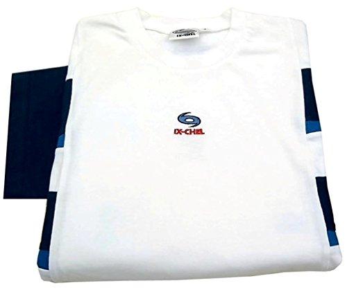 running shirt herren Laufsport laufbekleidung IX-CHEL Herren T-shirt weiss Blau