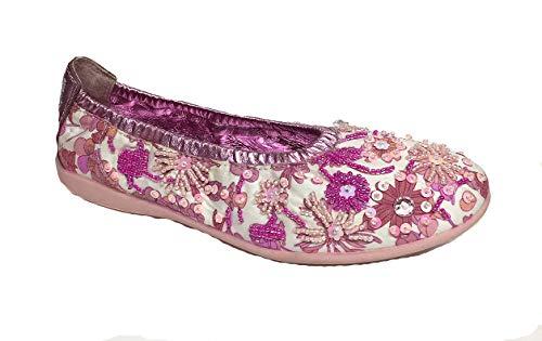 Lelli Kelly - Zapatos de Tela para niños, Color Morado, Talla 32