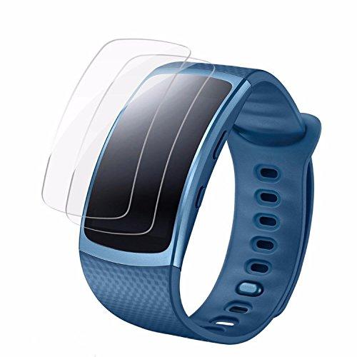 Samsung Gear Fit 2 Displayschutz Schutzfolien [8 Packs], Vollständige Abdeckung für Samsung Gear Fit2, eLander Samsung Gear Fit2 blasenfreier Film