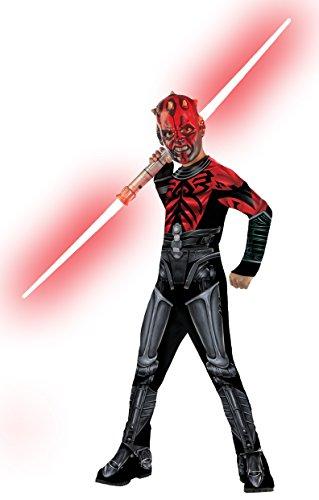 Maske Maul Darth Kostüm (Darth Maul Kinderkostüm aus Star Wars,)