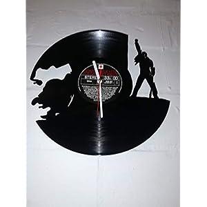 Wanduhr aus Vinyl Schallplattenuhr mit Freddie Mercury Motiv upcycling design Uhr Wand-deko vintage-Uhr Wand-Dekoration…