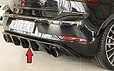 Rieger Heckeinsatz schwarz glänzend für VW Golf 7 GTI: 02.17- (ab Facelift)