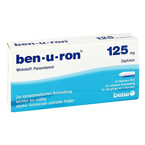 Ben-u-ron 125mg 10 stk