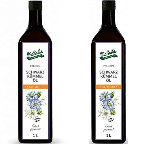 Miasanis Schwarzkmmell Gefiltert 2 Liter Kaltgepresst Aus Gyptischen Schwarzkmmel Samen Tglich Frisch Aus Eigener Lmhle 2 X 1 Liter
