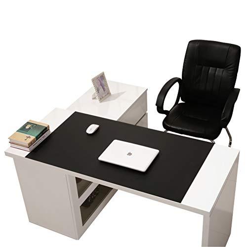 CNZXCO Schreibtisch-Maus-pad Anti-rutsch Pu Leder Schreibtisch-mauspad Wasserdicht Schreibunterlage Geldklammer Spiele Schreiben Mat Für Office Home Schreib-schwarz 68x35cm(27x14inch)