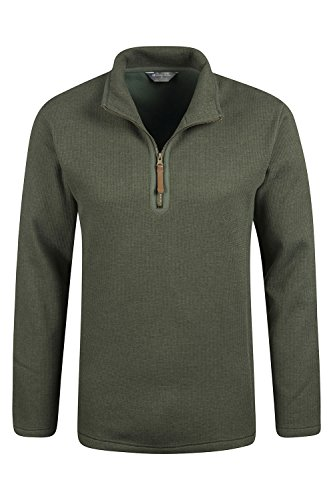 mountain-warehouse-beta-mens-windproof-zip-neck-top-khaki-medium