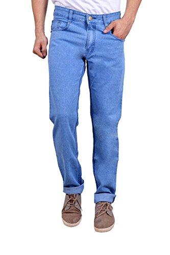 Studio Nexx Men's Denim Regular Fit Jeans (Light Blue, Size - 38)