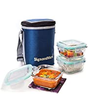 Signoraware Director Glass Lunch Box Set with Bag