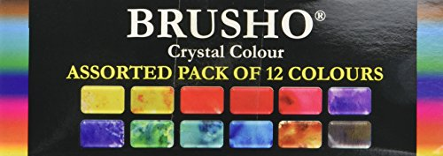 Brusho par Colourcraft Brusho Cristal Lot de 12 Pots de pigments à Peinture