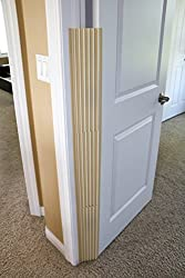 Little Llama 4-pack Finger Pinch Guard -- Childproof Door Hinge Cover for 90 or 180 Degree doors - Beige