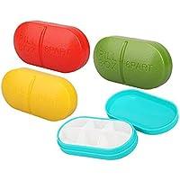Morepack, kleine dekorative Pillendose, Taschenformat, 4er-Pack preisvergleich bei billige-tabletten.eu