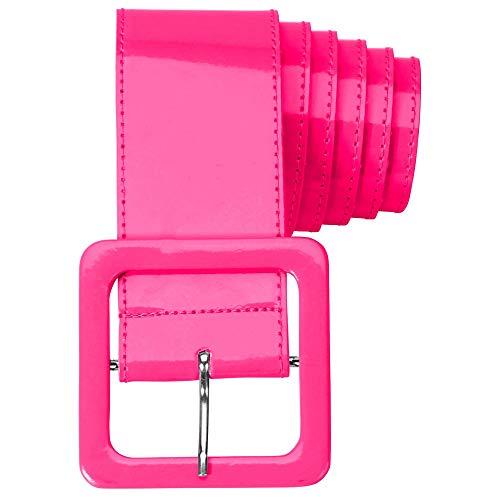 WIDMANN 17396 - Cinturón de vinilo para adultos, mujer, color rosa, talla única