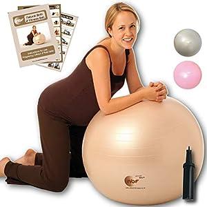 NBF Schwangerschafts- Gymnastikball mit pumpe für schwangerschaft und geburt 55cm 65cm 75cm