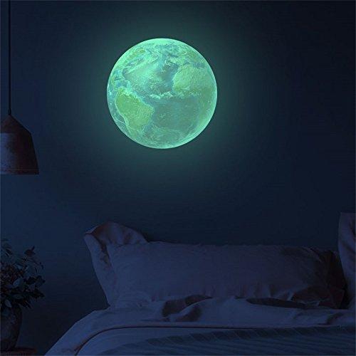 Zegeey_Haushalt Zegeey 3D Planet Fluoreszierende Wandaufkleber Removable Glow In The Dark Aufkleber 30cm (Ideen Geburtstagsparty Für)