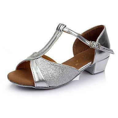 Silver Tanzschuhe Frauen Heel Heels Latin Paillette Indoor Low Frauen Tanzschuhe z7dxwq7Z
